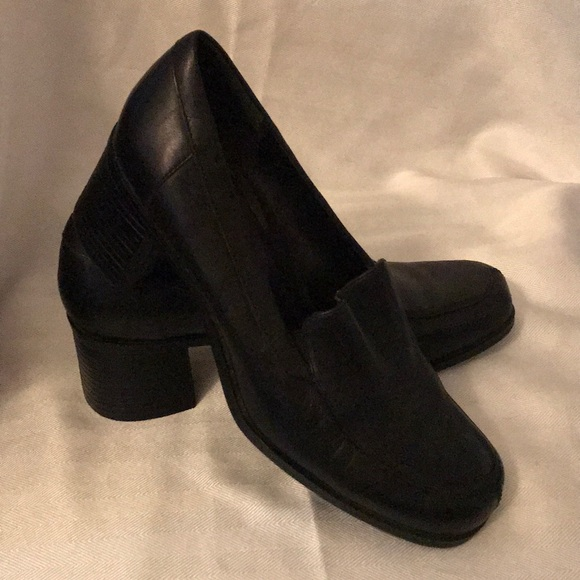 """croft & barrow Shoes - Croft & Barrow Black Leather Shoes 2"""" Heel 7W"""